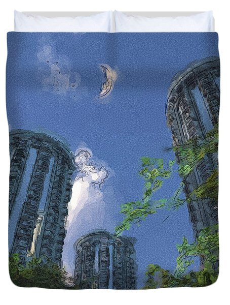 Triton Towers Duvet Cover by Richard Rizzo