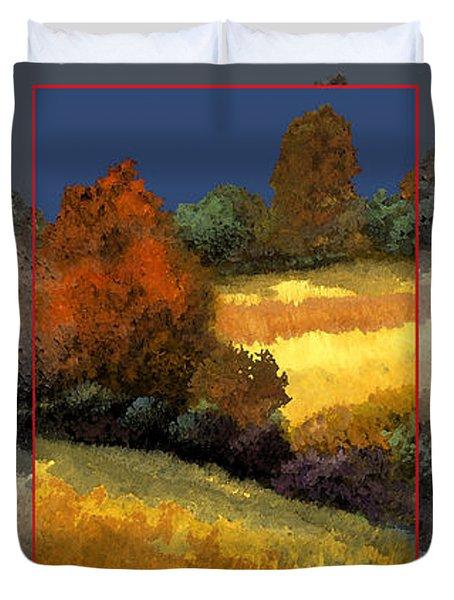 Trittico-sole Grigio Duvet Cover