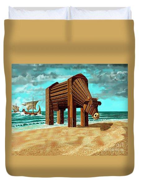 Trojan Cow Duvet Cover