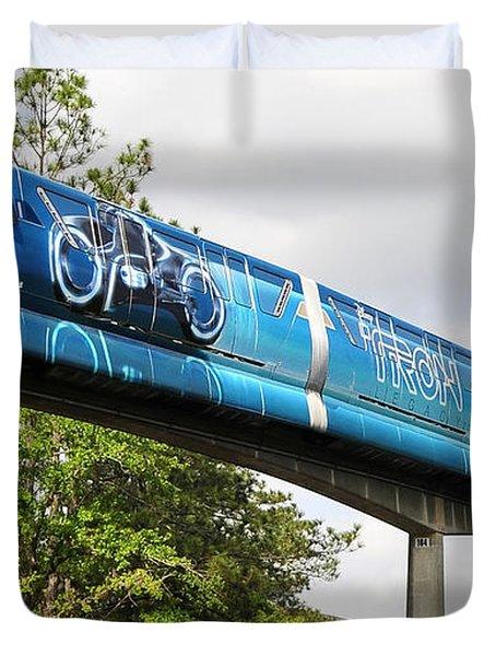Tron A Rail Duvet Cover by David Lee Thompson