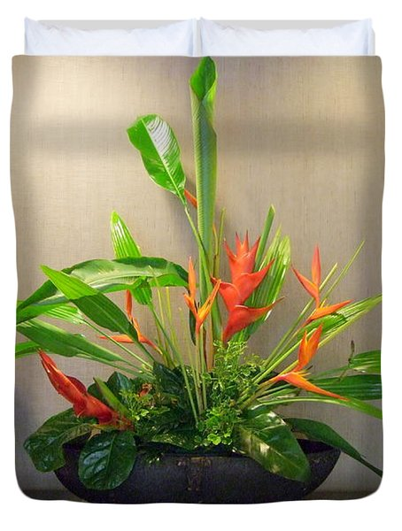 Tropical Arrangement Duvet Cover by Mary Deal