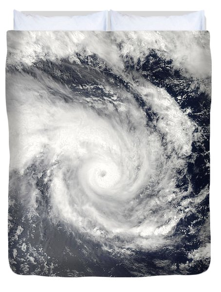Tropical Cyclone Edzani In The South Duvet Cover