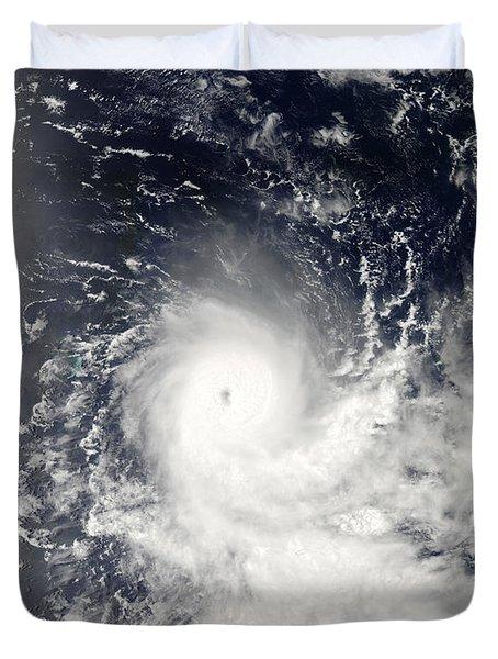 Tropical Cyclone Gelane Duvet Cover