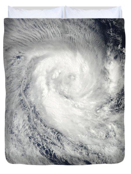 Tropical Cyclone Imani Swirls Duvet Cover