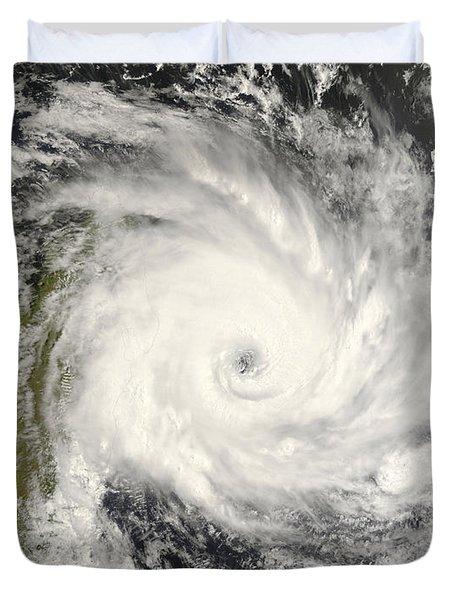 Tropical Cyclone Ivan Over Madagascar Duvet Cover