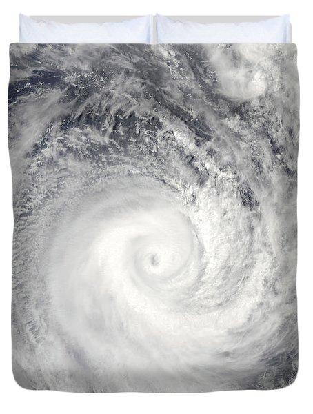 Tropical Cyclone Oli Off The Coast Duvet Cover