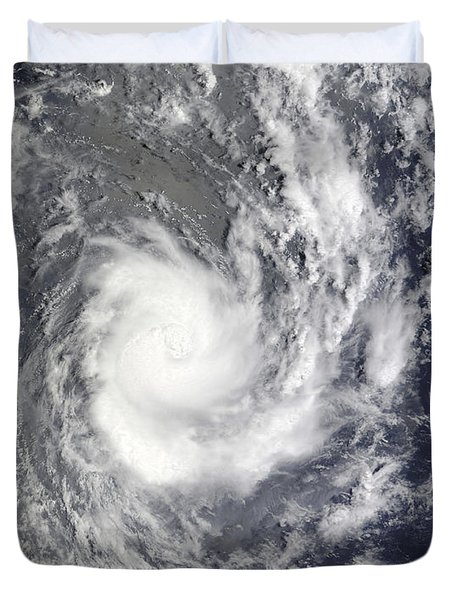 Tropical Cyclone Pat Over The Southern Duvet Cover