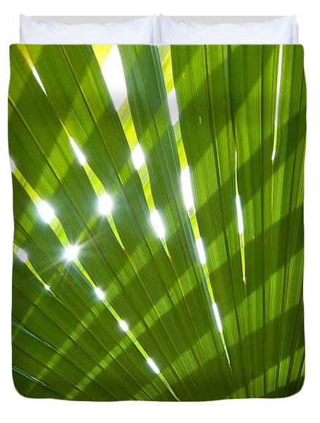 Tropical Palm Leaf Duvet Cover by Amanda Elwell