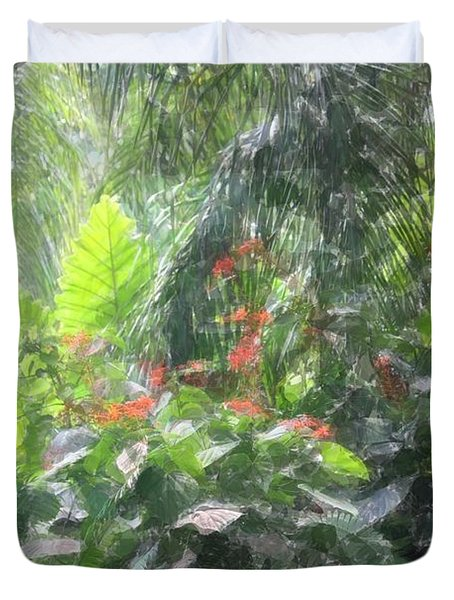 Duvet Cover featuring the photograph Tropical Paradise by Donna  Smith