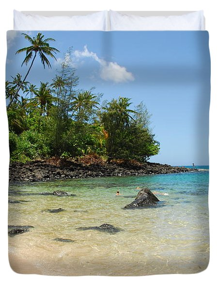 Duvet Cover featuring the photograph Tropical Paradise by Lynn Bauer