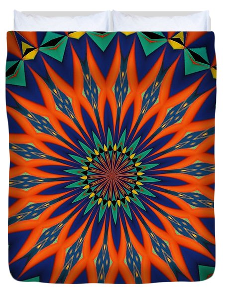 Duvet Cover featuring the digital art Tropical Punch by Alec Drake