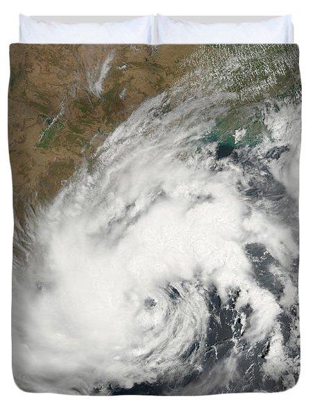 Tropical Storm Bijli Draped The East Duvet Cover