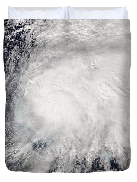Tropical Storm Noel Over The Bahamas Duvet Cover