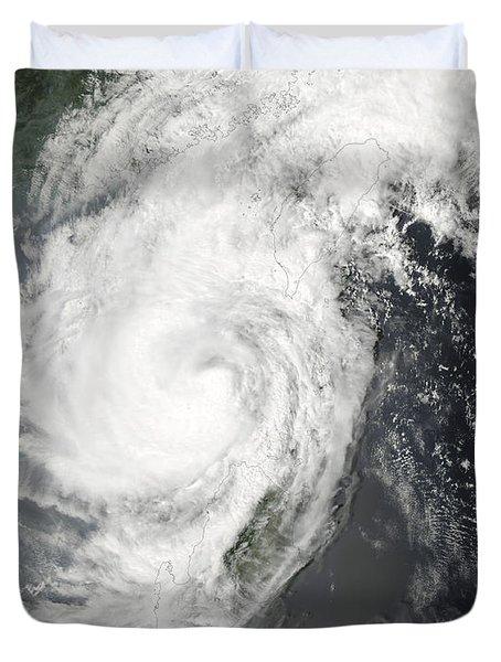 Tropical Storm Parm Duvet Cover