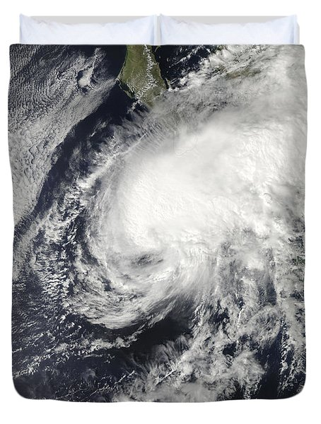 Tropical Storm Rick Approaching Mexico Duvet Cover
