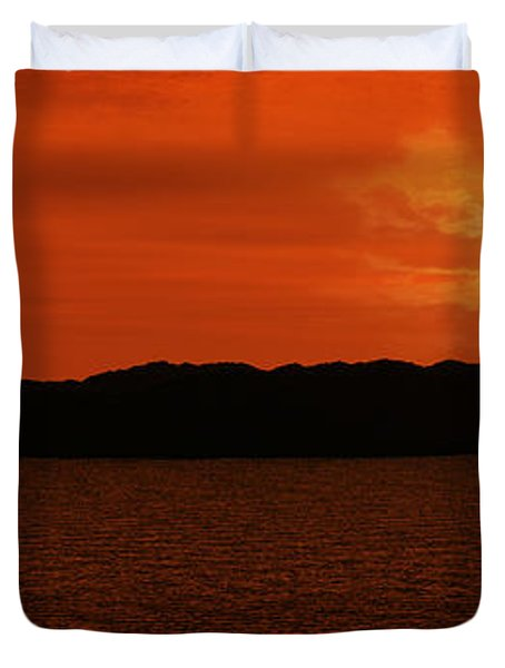 Tropical Sunset Duvet Cover by Lourry Legarde