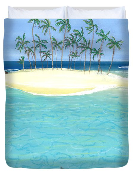 Tropical Tranquility  Duvet Cover by Jackie Novak