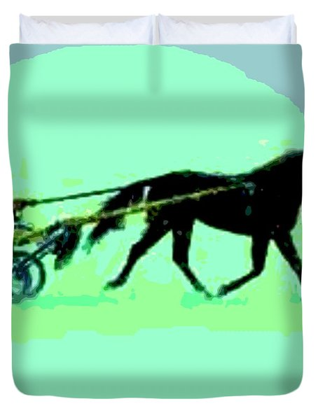 Duvet Cover featuring the photograph Trotter by George Pedro