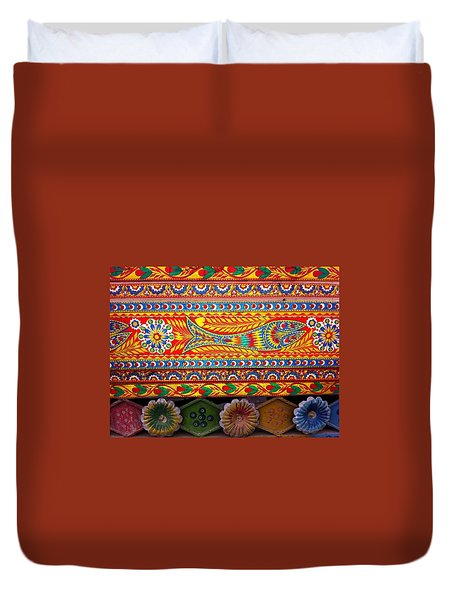 Truck Art Detail Duvet Cover