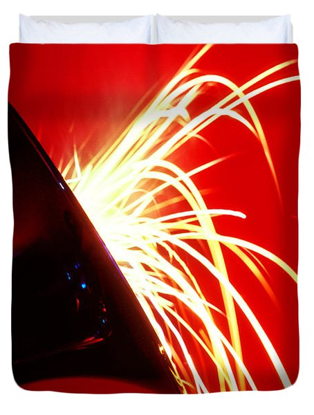 Trumpet Shooting Sparks Duvet Cover