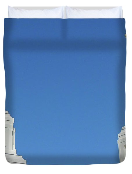 Trumpeting The Arrival Of The Lord Duvet Cover by Gary Baird