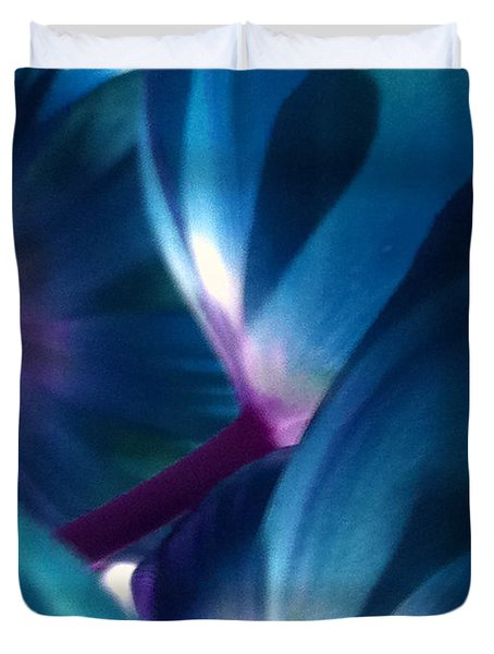 Tulip Blues Duvet Cover