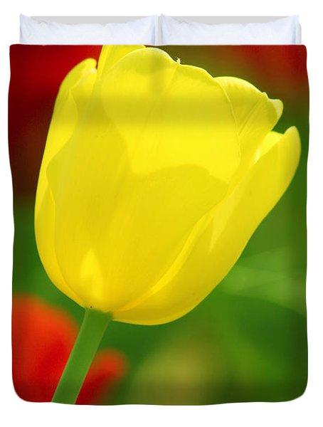 Tulipan Amarillo Duvet Cover