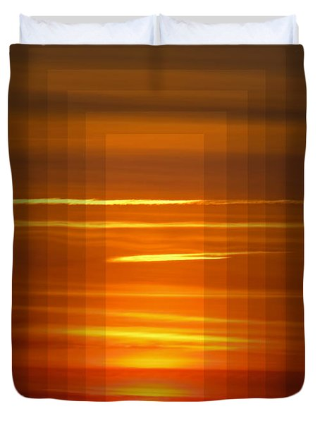 Tunnle Vision Duvet Cover by Debbie Portwood