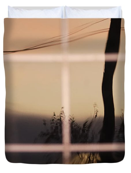 Turn Left At Dawn Duvet Cover by Susan Capuano