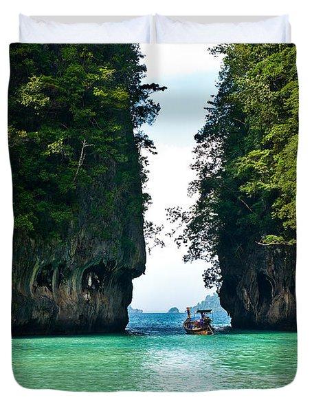 Turquoise Lagoon In Thailand Duvet Cover