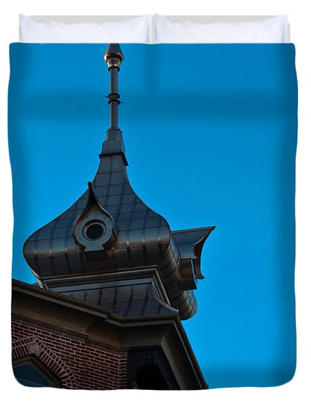 Duvet Cover featuring the photograph Turret At Tampa Bay Hotel by Ed Gleichman