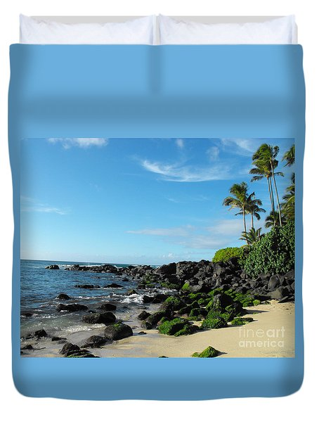 Turtle Beach Oahu Hawaii Duvet Cover