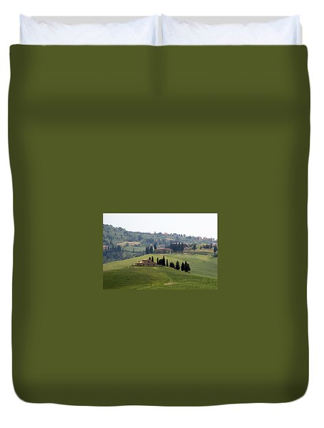 Duvet Cover featuring the photograph Tuscany by Carla Parris