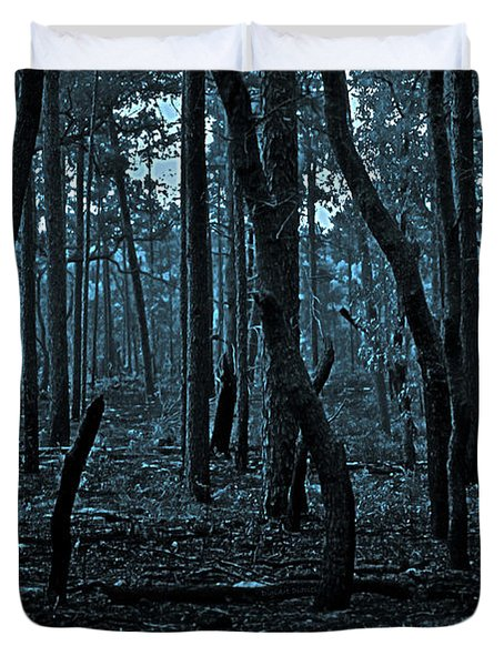 Duvet Cover featuring the photograph Twilight In The Smouldering Forest by DigiArt Diaries by Vicky B Fuller