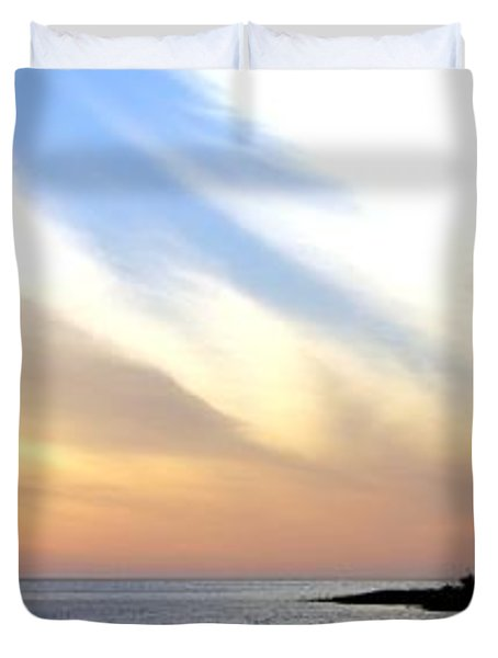 Twilight On The Gulf Duvet Cover