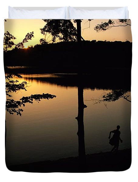 Twilight Over Walden Pond, Made Famous Duvet Cover by Tim Laman