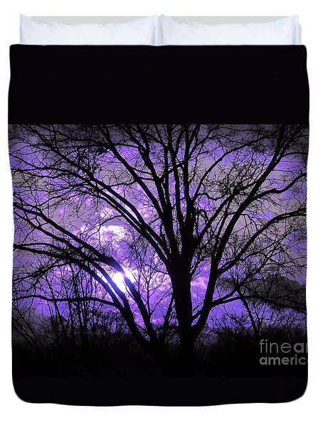 Duvet Cover featuring the photograph Twilight's Last Gleaming - Dusk by Susan Carella