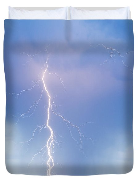 Twisted Lightning Strike Colorado Rocky Mountains Duvet Cover by James BO  Insogna
