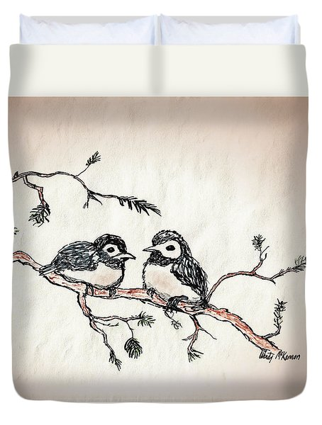 Two Birds Duvet Cover by Wendy McKennon