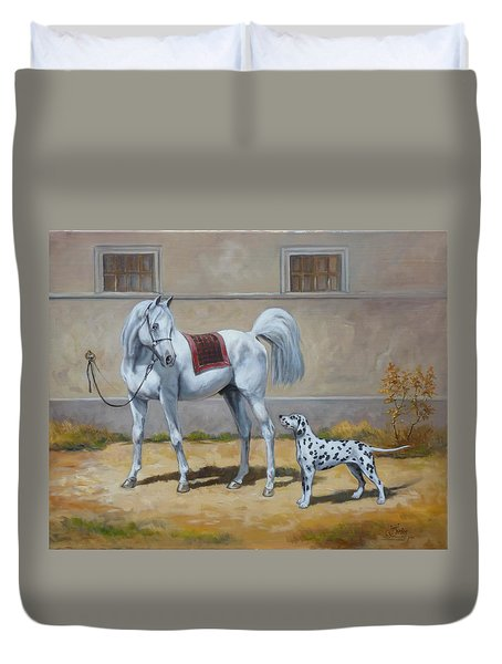 Two Buddies Duvet Cover