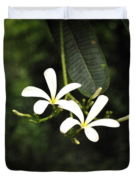 Two Flowers Duvet Cover by Sumit Mehndiratta