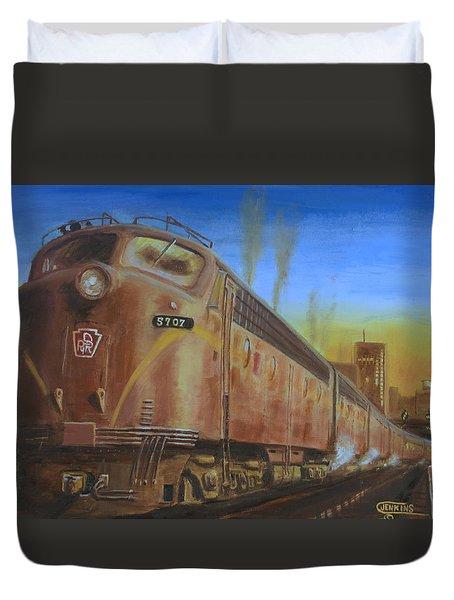 Two Minutes Late Duvet Cover by Christopher Jenkins