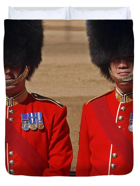 Two Warrant Officers Of The Irish Duvet Cover by Andrew Chittock