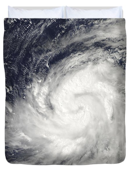 Typhoon Lupit Over The Western Pacific Duvet Cover