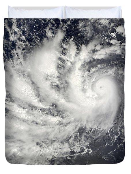 Typhoon Parma Heading Westward Duvet Cover