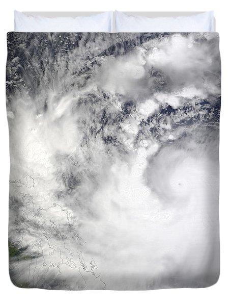 Typhoon Parma Duvet Cover