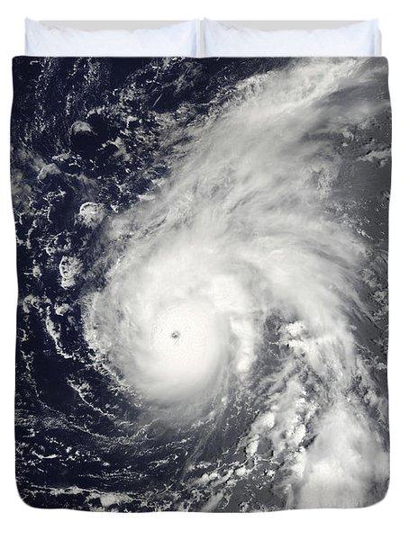 Typhoon Vamco In The Pacific Ocean Duvet Cover by Stocktrek Images