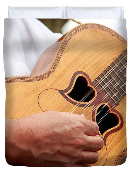 Typical Azores Guitar Duvet Cover by Gaspar Avila