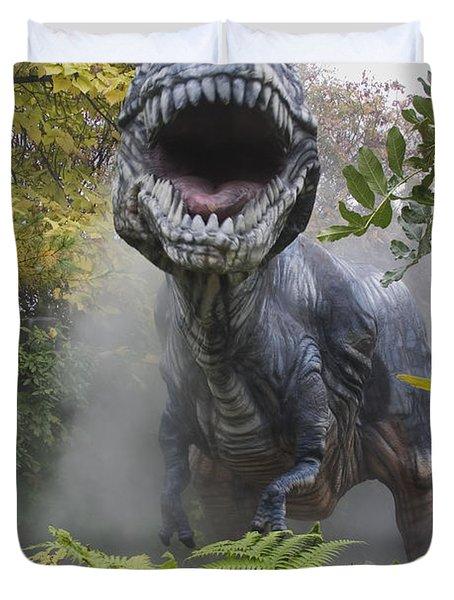 Tyrannosaurus Duvet Cover by David Davis and Photo Researchers