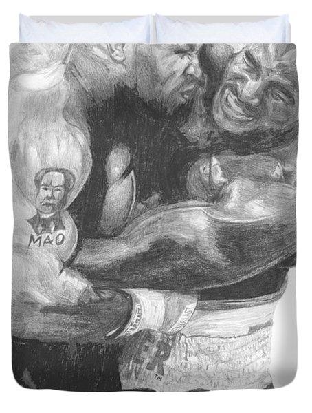Tyson Vs Holyfield Duvet Cover